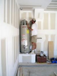 a new water heater instalaltion